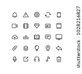 outline user interface icons | Shutterstock .eps vector #1028216827
