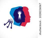 gender psychology concept... | Shutterstock .eps vector #1028226067