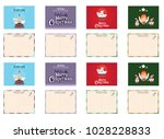 christmas greeting cards | Shutterstock .eps vector #1028228833