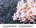 pink grains of himalayan salt
