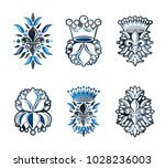 lily flowers royal symbols ...   Shutterstock .eps vector #1028236003