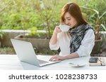 beautiful young teenage woman... | Shutterstock . vector #1028238733