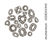 a set of monochrome diamonds ... | Shutterstock .eps vector #1028241943
