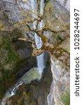 gujuli waterfall  basque...   Shutterstock . vector #1028244697