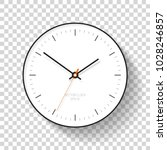 simple clock icon in flat style ... | Shutterstock .eps vector #1028246857