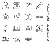 flat vector icon set   support... | Shutterstock .eps vector #1028249467
