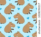 seamless pattern with cute... | Shutterstock .eps vector #1028250217