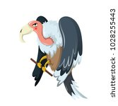 funny animals. bird of prey is... | Shutterstock .eps vector #1028255443