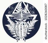 prehistoric tattoo art. symbol... | Shutterstock .eps vector #1028260087