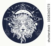 alchemy  religion  spirituality ... | Shutterstock .eps vector #1028260273