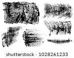 set of black ink vector stains | Shutterstock .eps vector #1028261233