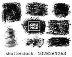 set of black ink vector stains | Shutterstock .eps vector #1028261263