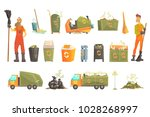 waste recycling and disposal...   Shutterstock .eps vector #1028268997