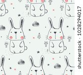 seamless pattern with cute... | Shutterstock .eps vector #1028294017