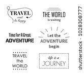 travel and adventure... | Shutterstock .eps vector #1028308777