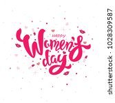 woman s day text design with... | Shutterstock .eps vector #1028309587