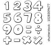 vector set of number | Shutterstock .eps vector #1028309677