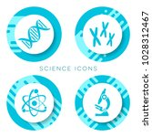blue vector science icons... | Shutterstock .eps vector #1028312467