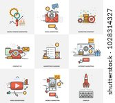 a set of elements for website... | Shutterstock . vector #1028314327