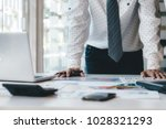 businessman using computer to...   Shutterstock . vector #1028321293