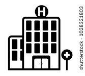 hospital outline icon glyph...   Shutterstock .eps vector #1028321803
