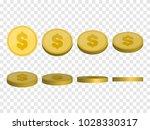golden coins vector...