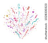 colorful confetti burst... | Shutterstock .eps vector #1028330323