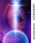 space galaxy background with... | Shutterstock .eps vector #1028348587