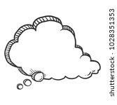 vector sketch comics speech... | Shutterstock .eps vector #1028351353