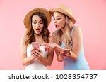 image of two splendid women... | Shutterstock . vector #1028354737
