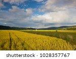 amazing twilight in the valley... | Shutterstock . vector #1028357767