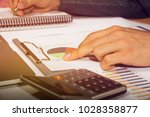 close up hand business man and... | Shutterstock . vector #1028358877