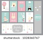 green pink pastel greeting card ... | Shutterstock .eps vector #1028360767