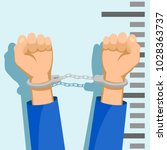 man in handcuffs. detention of... | Shutterstock .eps vector #1028363737
