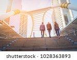 rear view of business team... | Shutterstock . vector #1028363893