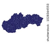 slovakia map border with purple ... | Shutterstock .eps vector #1028364553