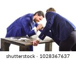 confrontation of business... | Shutterstock . vector #1028367637