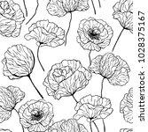 hand drawn poppies on white... | Shutterstock .eps vector #1028375167