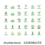 tree icon set vector isolated... | Shutterstock .eps vector #1028386153