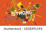 motivation card for social... | Shutterstock . vector #1028391193