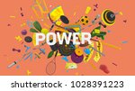 attractive 3d composition with... | Shutterstock . vector #1028391223