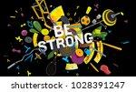 attractive 3d rendered... | Shutterstock . vector #1028391247