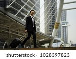business man with suit on... | Shutterstock . vector #1028397823
