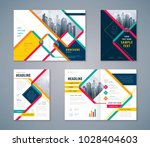 cover book design set  abstract ... | Shutterstock .eps vector #1028404603