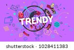 word trendy as a part of... | Shutterstock . vector #1028411383