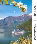 Small photo of Cruise ship in fjord, Flam, Norway