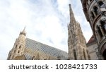 view on the roof of the vienna...   Shutterstock . vector #1028421733