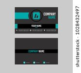 template layout id card and... | Shutterstock .eps vector #1028432497