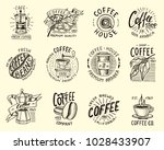 set of coffee logos. modern... | Shutterstock .eps vector #1028433907