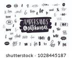 set of various handwritten... | Shutterstock .eps vector #1028445187